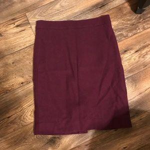 J Crew wool pencil skirt size 0